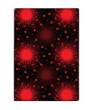Joy Carpets Kaleidoscope Cosmopolitan Red Area Rug