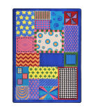 Joy Carpets Kid Essentials Crazy Quilt Multi Area Rug