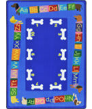 Joy Carpets Kid Essentials Doggone Good Alphabet Multi Area Rug