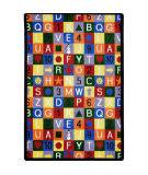 Joy Carpets Playful Patterns Edu-Squares Multi Area Rug