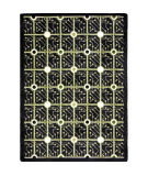 Joy Carpets Kaleidoscope Electrode Black Area Rug