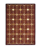 Joy Carpets Kaleidoscope Electrode Burgundy Area Rug