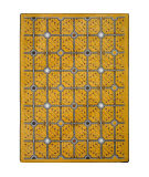 Joy Carpets Kaleidoscope Electrode Gold Area Rug