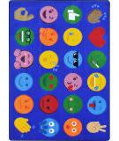 Joy Carpets Kid Essentials Emoji Expressions Multi Area Rug