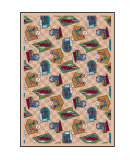 Joy Carpets Kaleidoscope Fabulous Fifties Beige Area Rug