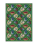 Joy Carpets Kaleidoscope Fabulous Fifties Green Area Rug