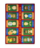Joy Carpets Kid Essentials First Signs Multi Area Rug