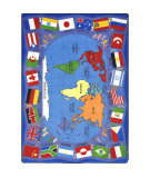 Joy Carpets Kid Essentials Flags Of The World Multi Area Rug