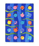 Joy Carpets Kid Essentials Friendly Fish Multi Area Rug