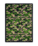 Joy Carpets Kaleidoscope Funky Camo Dark Army Area Rug