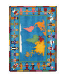 Joy Carpets Kid Essentials Hands Around The World Multi Area Rug