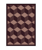 Joy Carpets Kaleidoscope Highrise Plum Area Rug