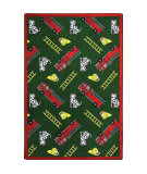 Joy Carpets Playful Patterns Hook And Ladder Green Area Rug