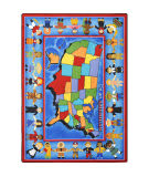 Joy Carpets Kid Essentials I'm An American Multi Area Rug
