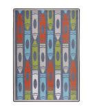 Joy Carpets Playful Patterns Jumbo Crayons Chalkdust Area Rug