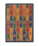 Joy Carpets Playful Patterns Jumbo Crayons Earthtone Area Rug