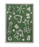 Joy Carpets Playful Patterns Kid's Art Green Area Rug