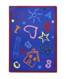 Joy Carpets Playful Patterns Kid's Art Rainbow Area Rug