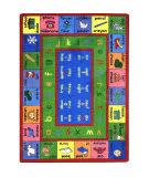 Joy Carpets Kid Essentials Lengualink French Multi Area Rug