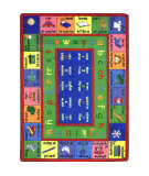 Joy Carpets Kid Essentials Lengualink Spanish Multi Area Rug