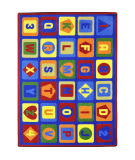 Joy Carpets Kid Essentials Lots To Learn Multi Area Rug
