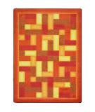 Joy Carpets Kid Essentials Off Beat Orange Area Rug