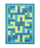 Joy Carpets Kid Essentials Off Beat Teal Area Rug