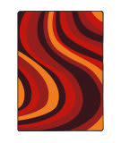 Joy Carpets Kid Essentials On The Curve Red Area Rug