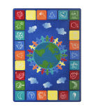 Joy Carpets Kid Essentials One World Primary Area Rug