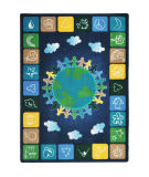 Joy Carpets Kid Essentials One World Neutrals Area Rug