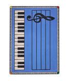 Joy Carpets Kid Essentials Play Along Blue W/ Keys Area Rug