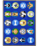 Joy Carpets Kid Essentials Playful Paws Multi Area Rug