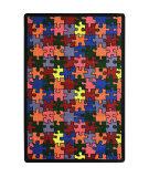 Joy Carpets Playful Patterns Puzzled Multi Area Rug