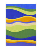 Joy Carpets Kid Essentials Riding Waves Multi Area Rug