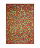 Joy Carpets Kaleidoscope Rodeo Burgundy Area Rug