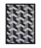 Joy Carpets Kaleidoscope Rooftop Black Area Rug
