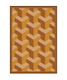 Joy Carpets Kaleidoscope Rooftop Wheat Area Rug
