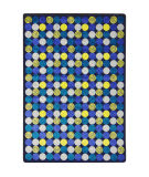 Joy Carpets Kid Essentials Roundabout Blue Area Rug