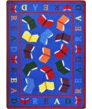 Joy Carpets Kid Essentials Scattered Books Multi Area Rug