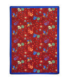 Joy Carpets Playful Patterns Scribbles Red Area Rug