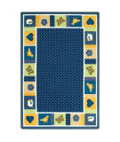 Joy Carpets Kid Essentials Seeing Spots Bold Area Rug