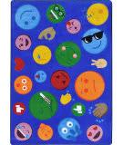 Joy Carpets Kid Essentials Shake 'em Up Emojis Multi Area Rug