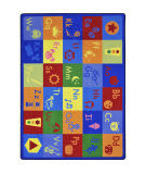Joy Carpets Kid Essentials Simply Phonics Multi Area Rug