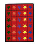 Joy Carpets Kid Essentials Star Space Multi Area Rug