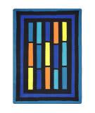 Joy Carpets Kid Essentials Traffic Jam Blue Area Rug