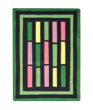 Joy Carpets Kid Essentials Traffic Jam Green Area Rug