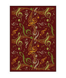Joy Carpets Kid Essentials Virtuoso Burgundy Area Rug