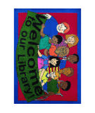 Joy Carpets Kid Essentials Welcome To Our Library Multi Area Rug