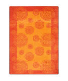 Joy Carpets Kid Essentials Whimzi Orange Area Rug