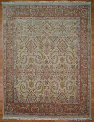 Kalaty Oak 147488 Ivory Rust Area Rug